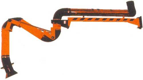 Подъемно-поворотные местные вытяжные устройства - лиана с консолью